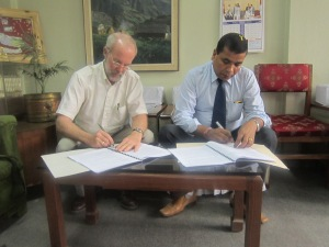 Signing MCC Nepal's Project Agreement with the Social Welfare Council