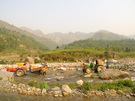 SAHAS delivering supplies in Okhaldhunga