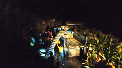 Shanti Nepal delivering metal sheeting in Dhading